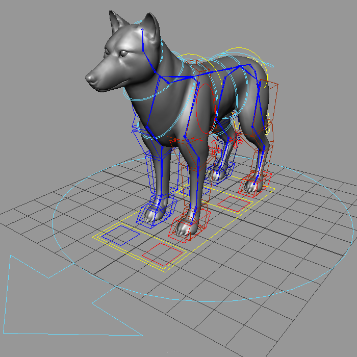 ikfk quadruped rig
